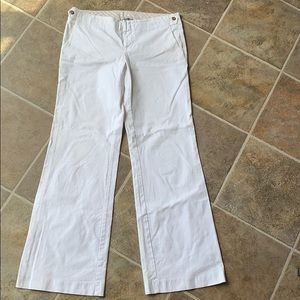 Gap white pants size 8 long